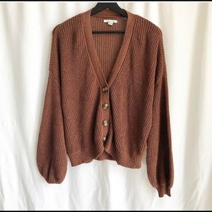 American Eagle brown knit oversized sweater